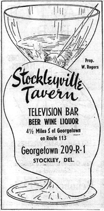 stockley tavern ad